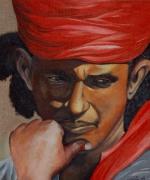 tableau personnages pecheur indien new delhi homme : Indien