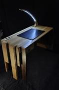 bois marqueterie autres souplesse bureau lumiere courbe : Bureau éco-light