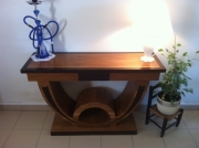 artisanat dart console table bureau bois : console