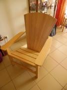 bois marqueterie fauteuil adirondack bois : Fauteuil adirondack