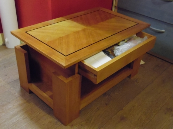 BOIS, MARQUETERIE table basse bois marqueterie  - Table basse