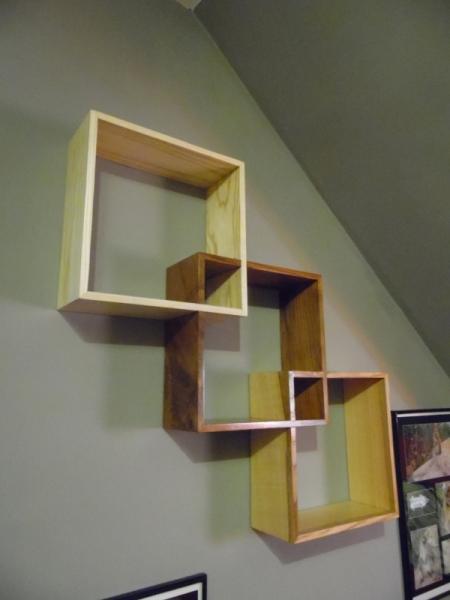 BOIS, MARQUETERIE cadre étagère bois design  - Étagère