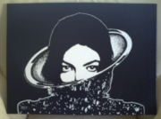 tableau personnages king of pop bambi moonwalk bichromie : Toile Xscape