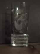 ceramique verre personnages gravure verre bichromie ,a boire : Verre 2pac