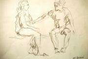 tableau personnages parc personnes couple portrait : 3S2