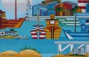 tableau marine : port