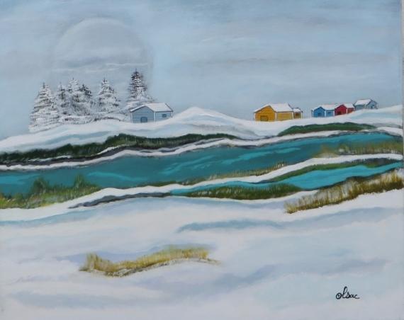 TABLEAU PEINTURE Paysages  - paysage nordique