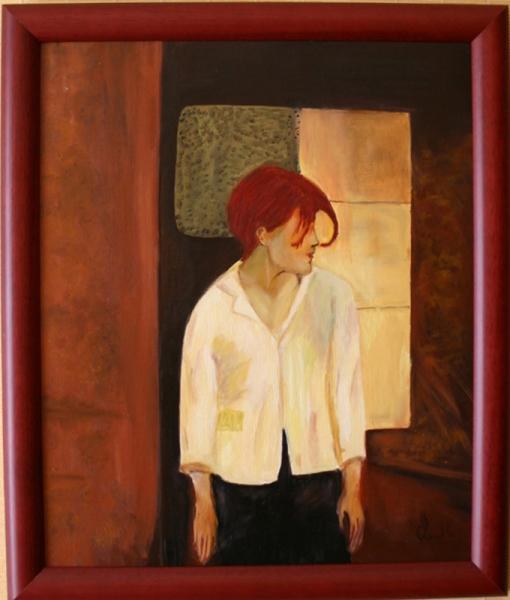 TABLEAU PEINTURE Peinture a l'huile  - Femme rousse