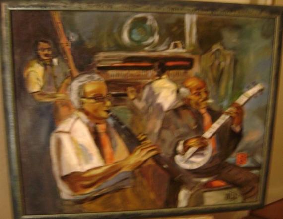 TABLEAU PEINTURE Personnages Peinture a l'huile  - New Orléans