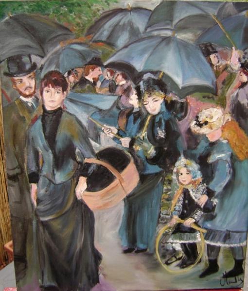 TABLEAU PEINTURE Personnages Peinture a l'huile  - Inspiration RENOIR