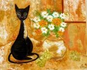 tableau animaux : chat noir