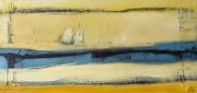 tableau paysages bateau mer semi abstrait paysage : Régate I