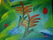 tableau fleurs : Les Paradis