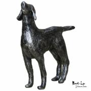 sculpture animaux gres patine : Rex