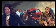 autres scene de genre accident voiture grincheux moines : carton