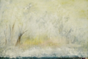 tableau paysages blanc neige flocons : TOMBE LA NEIGE