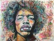 tableau jimi hendrix visage couleur americain : Jimi Hendrix