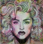 tableau personnages madonna femme visage couleur : Madonna