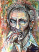 tableau personnages daniel craig street art james bond 007 cinema : Daniel Craig