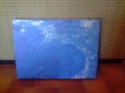 tableau marine coeur bleu mer : coeur océan
