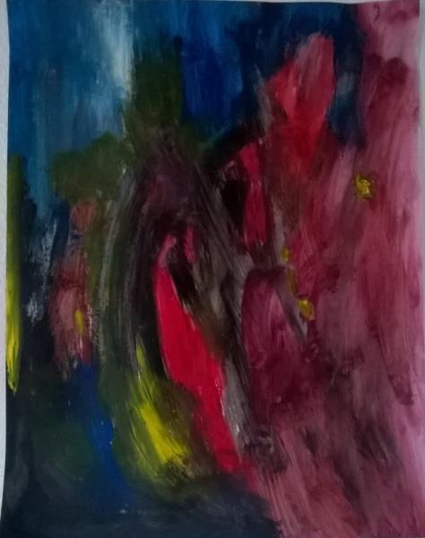 TABLEAU PEINTURE glaise Homme création Abstrait Acrylique  - l'homme ou la femme sorti-e de la glaise