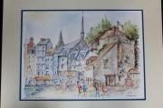 tableau villes honfleur cote normandie ville : Honfleur