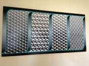 tableau abstrait abstrait psychedelique turquoise geometrie : Séquence Psychédélique
