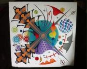 tableau abstrait abstrait couleurs intersection sable : Abstrait 5