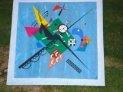 tableau abstrait abstrait kandinsky bleu : Kandinsky 1