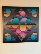tableau abstrait courbe bulles couleurs abstrait : Bubbles Réflection