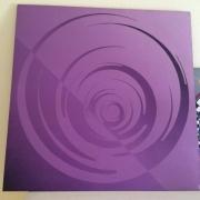 tableau abstrait abstrait infini psychedelique violet : Abstrait