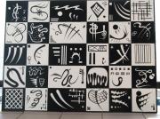 tableau abstrait kandinsky damier abstrait formes : Kandinsky 2