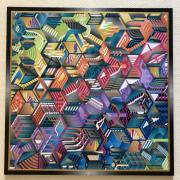 tableau abstrait abstrait eischer labyrinthe couleurs : N°54
