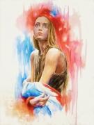 tableau personnages marianne france portrait drapeau : Marianne 2016