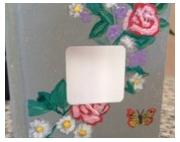 autres fleurs carnet blocnotes pensebete : Carnet GRAPPE DE FLEURS et PAPILLON,  bloc-notes ou pense-bête,