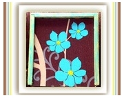 bois marqueterie fleurs turquoise jeux jeux de cartes : COFFRET JEUX LES 3 TURQUOISES BOIS