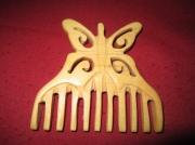 artisanat dart : peigne papillon