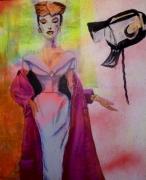 tableau personnages mode 1950 fashion stylisme : Fashion