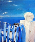 tableau paysages mer paysage : Moment Zen