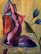 tableau personnages femme nue zen : La baigneuse