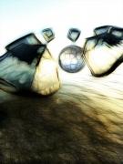 art numerique paysages roc ocean mineral : Syrah (30x40)