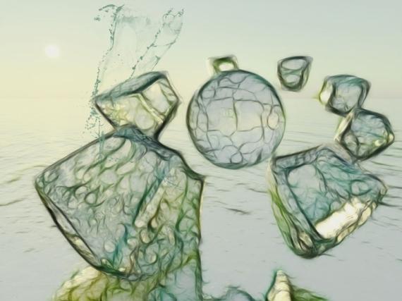 MIXTE roc fluide minéral Paysages  - Minéral et fluides (80x60)