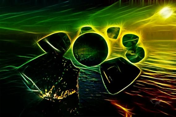 ART NUMéRIQUE roc lumière Abstrait  - Eclipse (60x40)