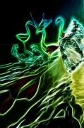 art numerique animaux flamand jugement ame soul : Urubus & Irradiances (40x60)
