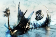 mixte marine langskips viking : Drakkard (60x40)