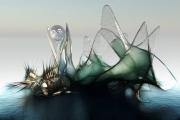 art numerique abstrait navire ocean : Fregate 1er