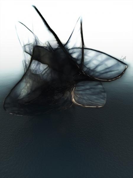 MIXTE azur ephémère océan vide Abstrait  - Arezylle (120x160)