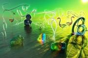 art numerique soleil lumiere pierre ame : Ibis - Solstice (45x30)