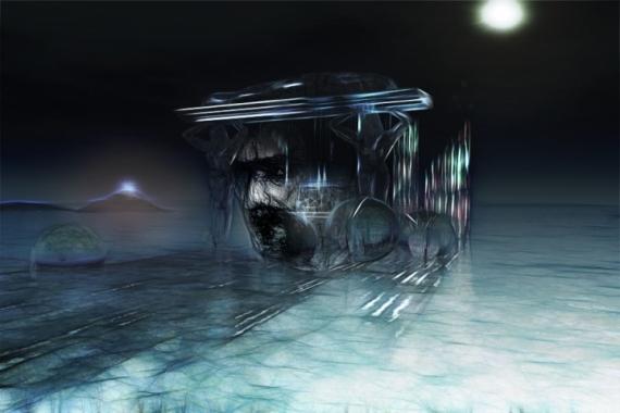 MIXTE oubli nuit passé Abstrait  - Oblivion II (60x40)