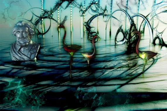 ART NUMéRIQUE henri IV songe flamand Abstrait  - Vert galant 2 (120x80cm)